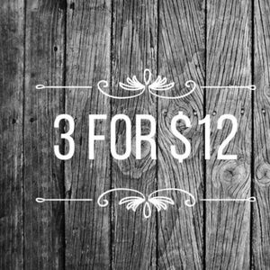 ❤3 for$12❤